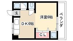 愛知県名古屋市瑞穂区片坂町1丁目の賃貸マンションの間取り