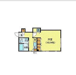 東京メトロ千代田線 乃木坂駅 徒歩8分の賃貸マンション 3階1Kの間取り