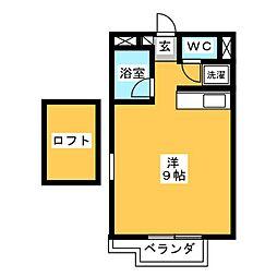 カーサU2[1階]の間取り