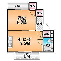 コーポ斉藤[4階]の間取り