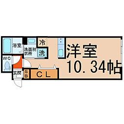 愛知県名古屋市西区城西3の賃貸マンションの間取り