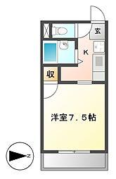 愛知県名古屋市中村区草薙町2丁目の賃貸マンションの間取り