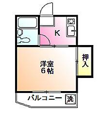 カンタドール下條[1階]の間取り