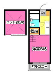 埼玉県狭山市大字北入曽の賃貸アパートの間取り