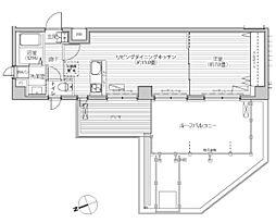 カーサ神明山田(中々出てこない1LDKタイプ)[5階]の間取り