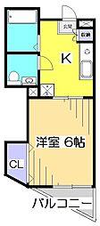 東京都国分寺市内藤1丁目の賃貸マンションの間取り