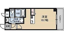 JR大阪環状線 野田駅 徒歩10分の賃貸マンション 2階ワンルームの間取り