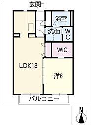 サンシャインIII[1階]の間取り