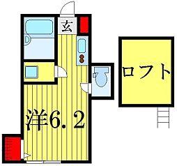 インベストビギン柴又II[1階]の間取り