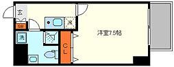 HR・FRONT・REGALドームウエスト 5階1Kの間取り