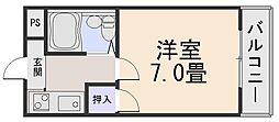 シャトードゥクリヨン[2階]の間取り