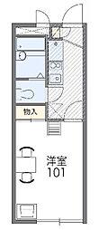 東京都江戸川区江戸川6丁目の賃貸アパートの間取り