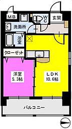 リバーランドVI[4階]の間取り
