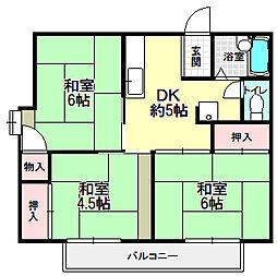 長谷ガーデンハイツ[2階]の間取り
