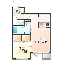 ラ・コーザN10[3階]の間取り
