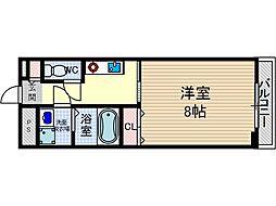 ブロッサム茨木[4階]の間取り