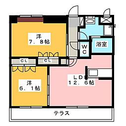 イーストピア(関市)[1階]の間取り