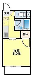 愛知県豊田市錦町1丁目の賃貸アパートの間取り