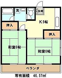埼玉県川口市前上町の賃貸アパートの間取り