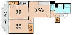 ストリームライン箱崎[4階]の間取り