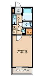 エムズ江北[1階]の間取り