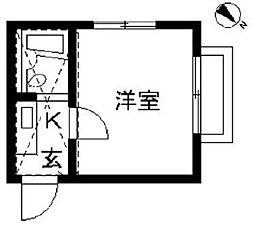 東京都板橋区赤塚3丁目の賃貸アパートの間取り