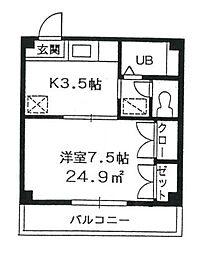 東京都葛飾区白鳥2丁目の賃貸マンションの間取り