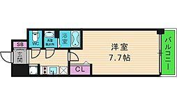 プレサンス玉造ザ・ライブ[10階]の間取り