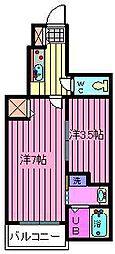 埼玉県川口市上青木西3丁目の賃貸マンションの間取り