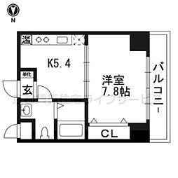 シボラ六条高倉[3-A号室]の間取り