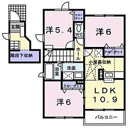 山手メゾン弐A[202号室]の間取り