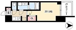 S-RESIDENCE本郷 8階1Kの間取り