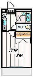 埼玉県さいたま市桜区中島1丁目の賃貸マンションの間取り