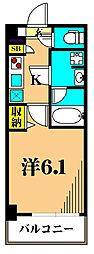 ガーラ大井町グランドステージ 6階1Kの間取り