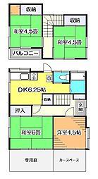 [一戸建] 東京都小平市鈴木町1丁目 の賃貸【/】の間取り
