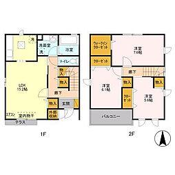 [一戸建] 埼玉県さいたま市中央区八王子3丁目 の賃貸【/】の間取り