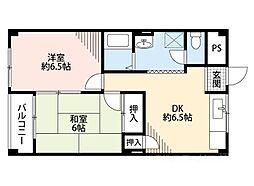 南恩加島マンション[2階]の間取り