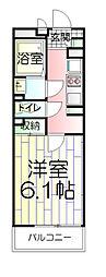 東京都台東区清川2丁目の賃貸マンションの間取り