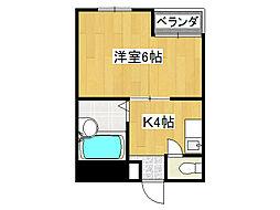 ゴッドフィールドIII[2階]の間取り