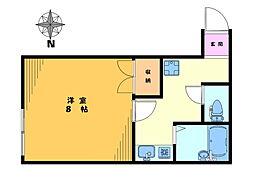 ハウス七浦[103号室]の間取り