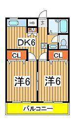 第11ユーカリハイツ[302号室]の間取り