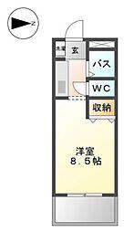 グランチェスタIII[1階]の間取り