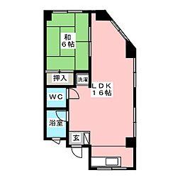 第11タツミビル[3階]の間取り