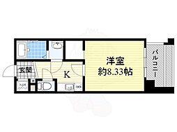 フォレステージュ江坂公園 10階1Kの間取り