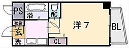 リンクスイン東大阪Part1[3階]の間取り