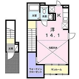 エテルノ I(ウーノ)[2階]の間取り