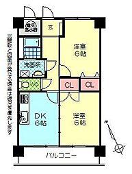 ルネス中野マンション[603号室]の間取り