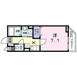 東京都大田区大森西5丁目の賃貸アパートの間取り