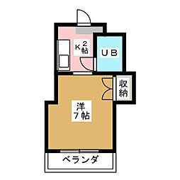秀美寮[1階]の間取り