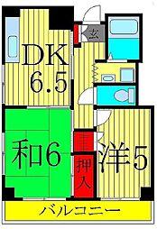 東京都葛飾区東堀切2丁目の賃貸マンションの間取り